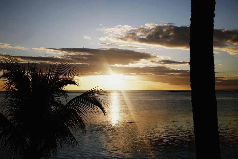 ile maurice sunset