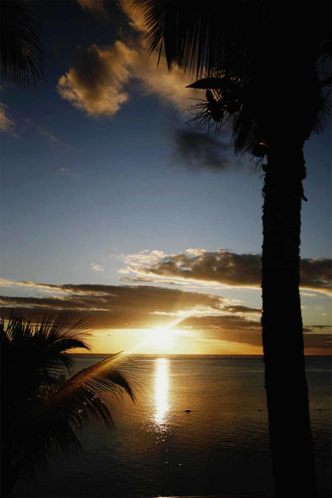 ile maurice coucher de soleil