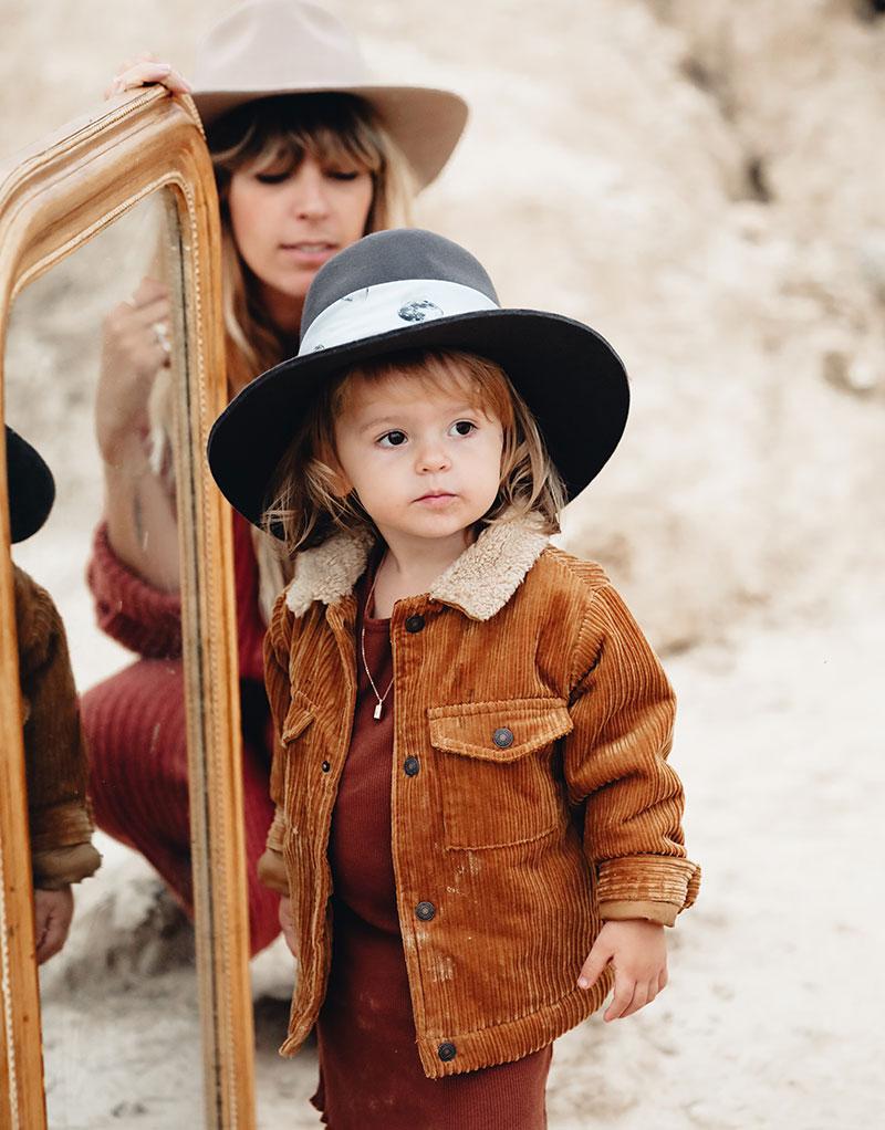 fringe and frange chapeaux enfant